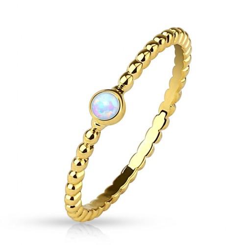 Zlacený prsten s opálem (57)