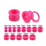 Růžový akrylátový tunel do ucha (16 mm) [1]