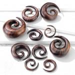 Roztahovák do ucha dřevo - spirála (5 mm) [1]