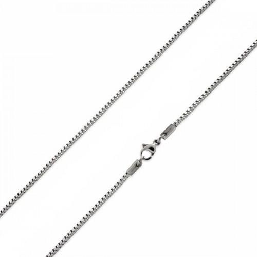 Ocelový řetízek čtvercový, tl. 1 mm (55 cm)