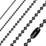 Kuličkový řetízek černý, tl. 2,4 mm (90 cm) [0]