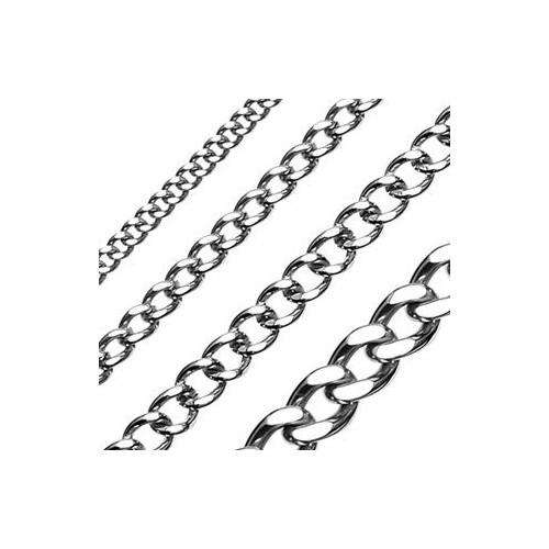Ocelový řetízek, šíře 3 mm (55 cm)