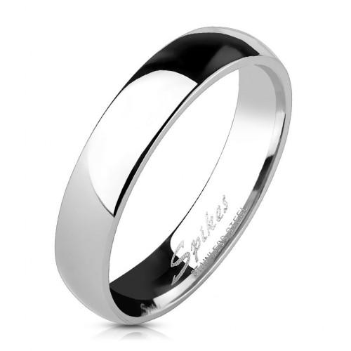 Lesklý ocelový prsten šíře 4 mm (56)