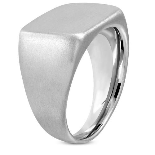 Pečetní ocelový prsten matný (56)