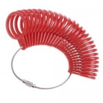 Měrné kroužky plastové, EU velikosti (bílá) [3]