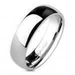 Lesklý ocelový prsten šíře 6 mm (49) [0]