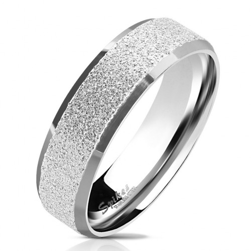 OPR0077 Pánský ocelový prsten pískovný (52)