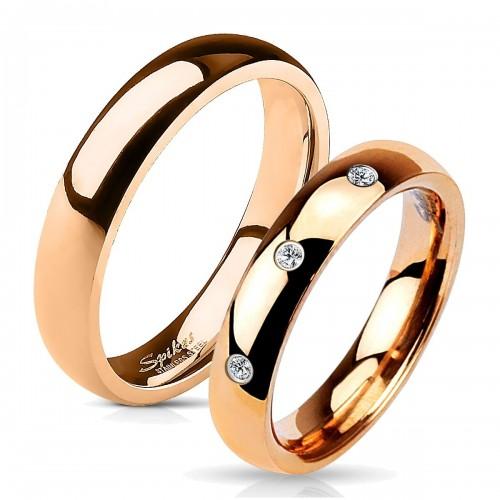 OPR0016 Ocelové snubní prsteny - pár