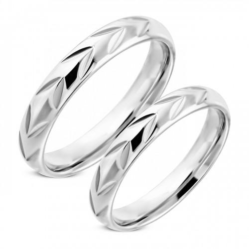 NSS3002 Snubní prsteny chirurgická ocel - pár