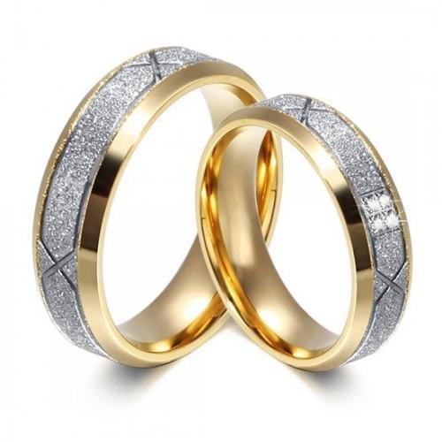 OPR0041-Zr Ocelové snubní prsteny - pár