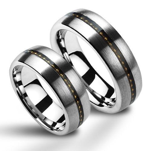 NWF1043 Wolframové snubní prsteny - pár