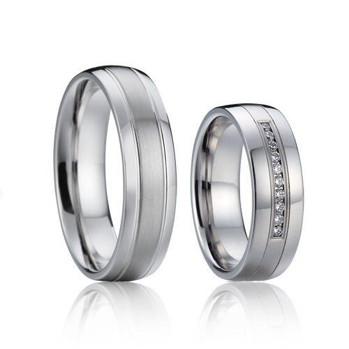 AN1015 Snubní prsteny chirurgická ocel - pár