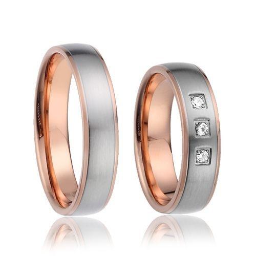 AN1018 Snubní prsteny chirurgická ocel - pár