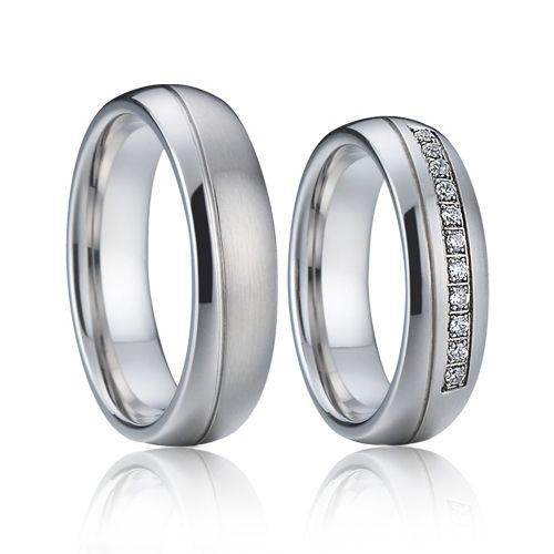 AN1001 Snubní prsteny chirurgická ocel - pár