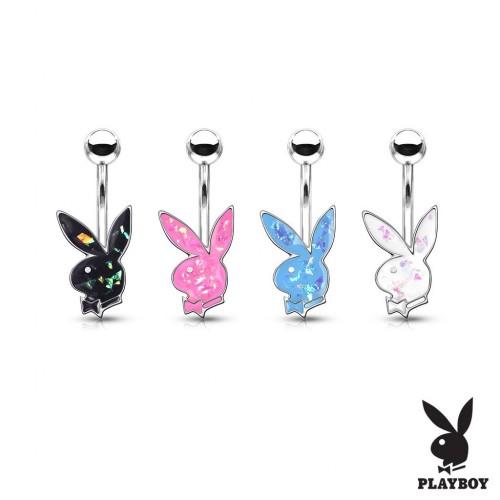 Piercing do pupíku, zajíček Playboy (bílá)