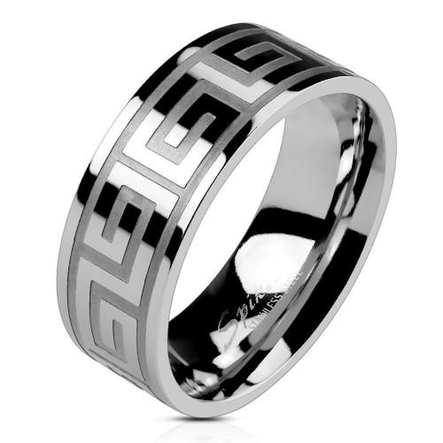 Prsten chirurgická ocel, šíře 6 mm (55)