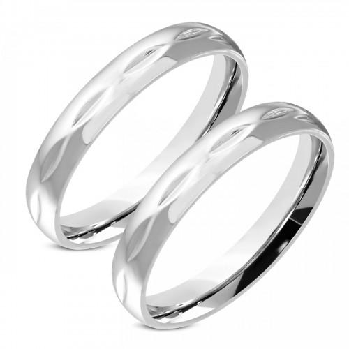 OPR0106 ocelové snubní prsteny - pár