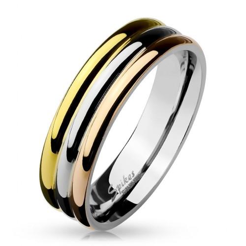 Ocelový prsten, šíře 6 mm (52)