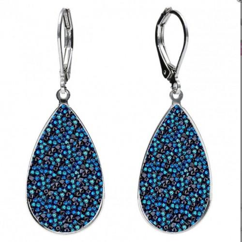 Náušnice Crystals from Swarovski® BERMUDA BLUE