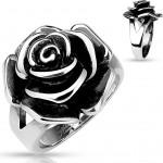 Ocelový prsten růže (50) [1]