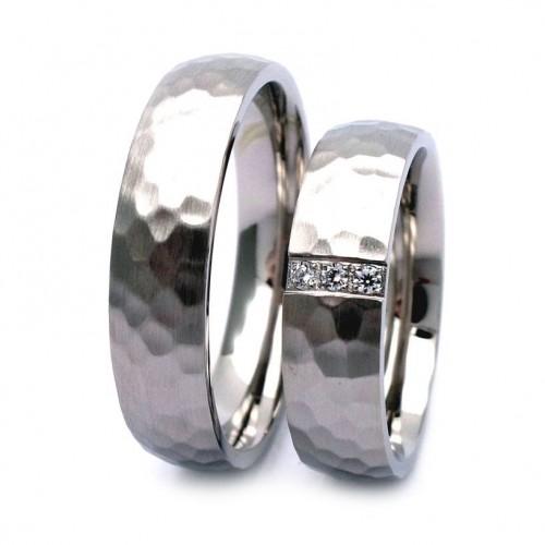 NSS3016 Tepané snubní prsteny ocel - pár