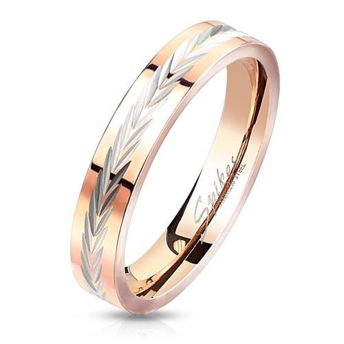 Zlacený ocelový prsten (57)