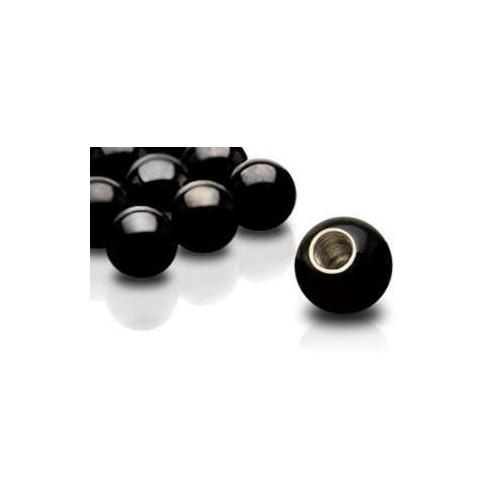 Náhradní kulička chirurgická ocel černá závit 1,6 mm