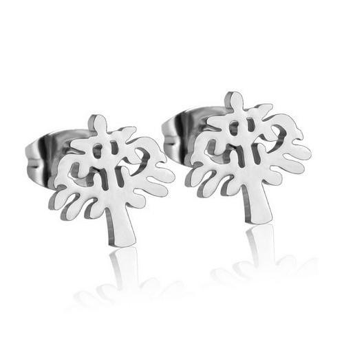 Ocelové náušnice - stromy života