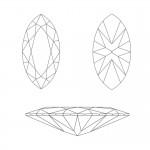 CZ Kubický zirkon - Clear, 2,5 x 5 mm [1]