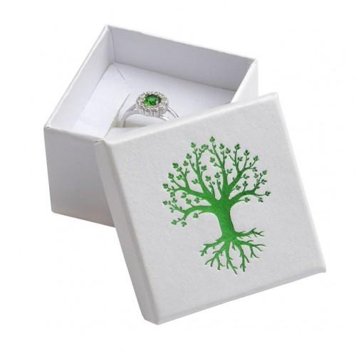 Dárková krabička na prsten, zelený strom života