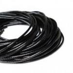 Voskovaná šňůrka na krk černá, tl. 1,5 mm, délka 45 cm [1]