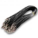 Voskovaná šňůrka na krk černá, tl. 1,5 mm, délka 45 cm [2]