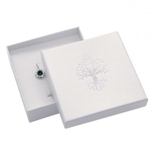 Dárková krabička na soupravu, stříbrný strom života
