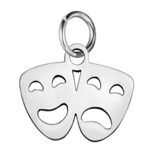 Malý ocelový přívěsek s kroužkem - masky