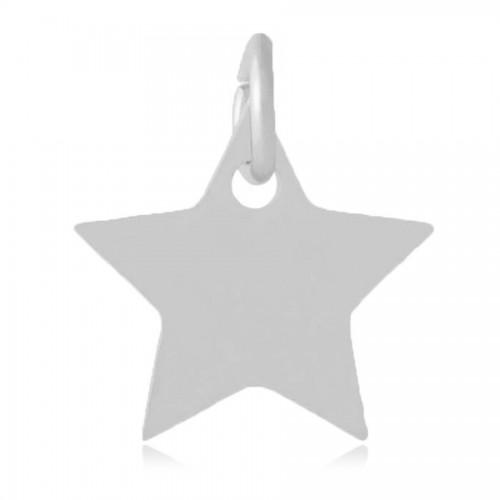 Malý ocelový přívěsek s kroužkem - hvězdička