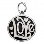 Drobný ocelový přívěsek s kroužkem - Love [0]