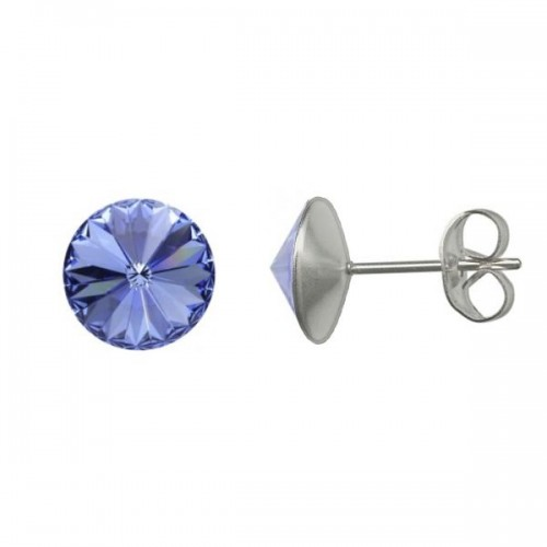 Ocelové náušnice Crystals from Swarovski® 6mm, LIGHT SAPPHIRE