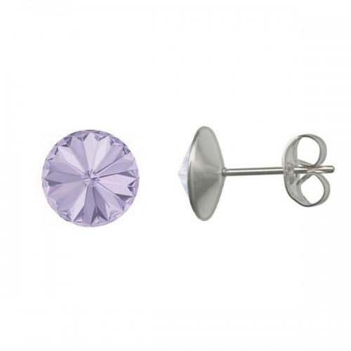 Ocelové náušnice Crystals from Swarovski® 6mm, VIOLET