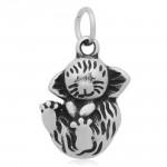 Ocelový přívěsek s kroužkem - koťátko [0]