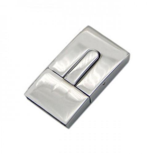 Ocelový uzávěr na náramek, lesklý povrch, 10 x 3 mm