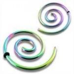 Roztahovák - spirála - duhová ocel (0,8 mm) [0]