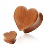 Cherry Wood plug - srdce (8 mm) [0]