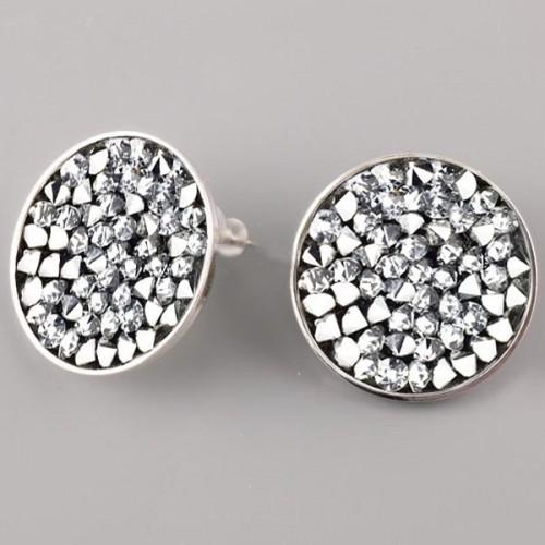 Puzetové nušnice s krystaly Crystals from Swarovski® 20 mm, CRYSTAL CAL