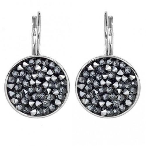 Náušnice s krystaly Crystals from Swarovski® GREY METALISEÉ
