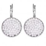 Náušnice s krystaly Crystals from Swarovski® WHITE OPAL [0]