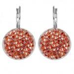 Náušnice s krystaly Crystals from Swarovski® RED MAGMA [0]