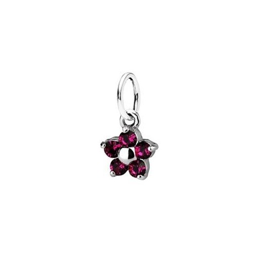 Dětský přívěsek kytička, Crystals from SWAROVSKI®, barva: Fuchsia
