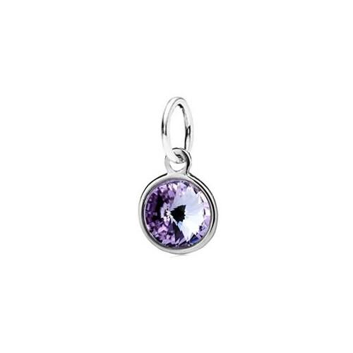 Stříbrný přívěsek s kamenem Crystals from SWAROVSKI®, barva: Violet