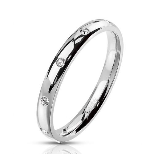 Ocelový prsten se zirkony (62)