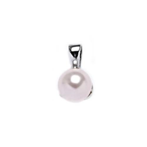 Stříbrný přívěsek perla 8mm Crystals from Swarovski® Rosaline